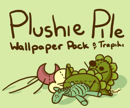 Plushie Pile Wallpaper Pack by Trapiki