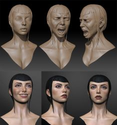 Female expressions by mojette