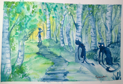 Friends in the forest by bottomlessBOX