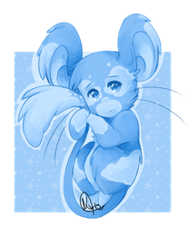 Day 5 -  Blue Mouse by Kiimmey