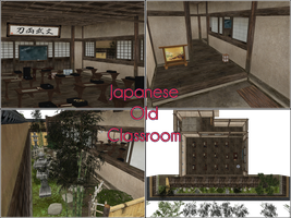 MMD Stage: Japanese old classroom by kaahgomedl