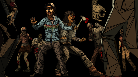The Walking Dead Mosaic Wallpaper by klopki
