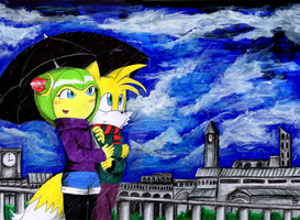 Rain 3 Tails and Cosmo by EROS-ARISTOTELES-ART