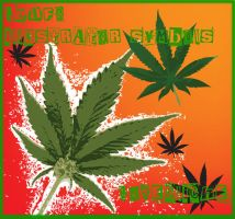 ganja leafs for illustrator by lovecliche