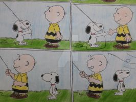 Snoopy Being Kind 02 by maskedsmurf