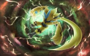 Zeraora pokemon by Maucen