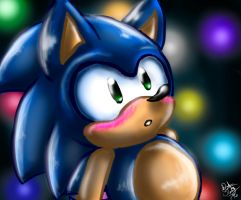 Cute Classic Sonic by DarkStarling716