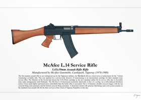 McAfee L.4 Assault Rifle (NationStates) by graphicamechanica