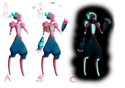 Chamba Character Design Comp  - Cherry by PKLdesigner