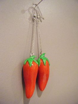 Spicy Red Pepper Earrings by Mika-Chan-Ness