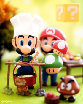 Cooking with Luigi  by CuriousHerring