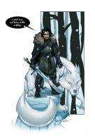 Jon Snow and ghost by thenota