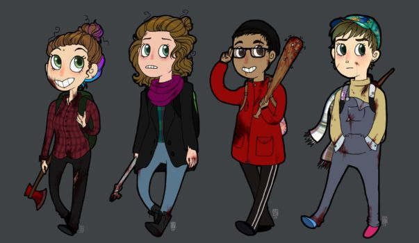 Zombie hunting squad by CatLoverGirl