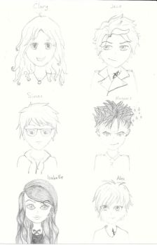 The Mortal Instruments Characters by CattieClaw