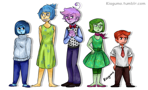 All Characters from Inside Out by Kiagumo