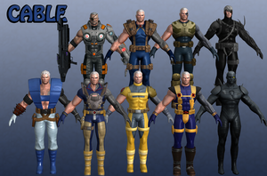 Cable Marvel Heroes XNALara by Xelandis