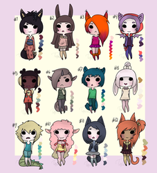 Kemonomimi Adopts (CLOSED) by AGD-Adopts