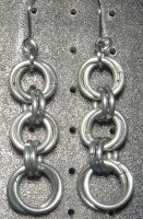 Chainmaille Earring 61 by Des804