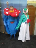 Vileplume and Gardevoir cosplay by videogameking613