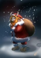 A gentle Santa from the Underground by Wineye-ll