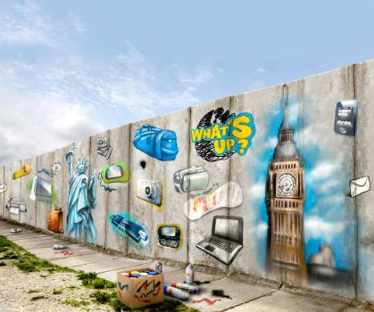 what's up reloaded - wall graf by antonist