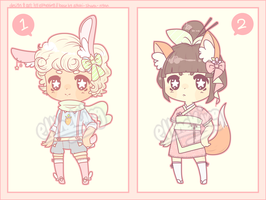 FLATPRICE Chibi Kemonomimi Adopts! [1/2 OPEN] by ElTheKing
