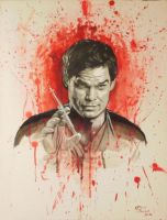 Darkly painting Dexter by Ace-McGuire