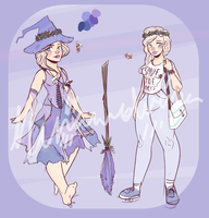 Lavender Witch Adopt (CLOSED) by NinaWolverina