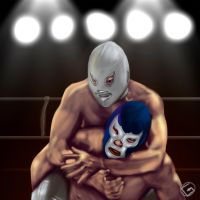 Santo y blue demon. by Grojs