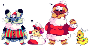 Christmas Adoptables: (CLOSED) by afroclown
