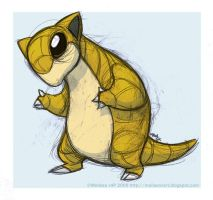Sandshrew by sketchinthoughts