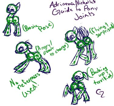 Pony Joint/Pose Guide by woogieboboogie