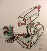 Christmas Robot by LytletheLemur