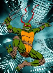Shell Shock (TMNT Raphael Colours) by Little--Broling