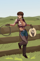 The Lovely Cowgirl by morganagod