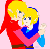 Blue and Red by redlinkxbluelink54