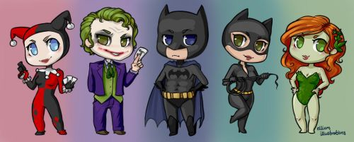 Batman Chibis by Kinky-chichi