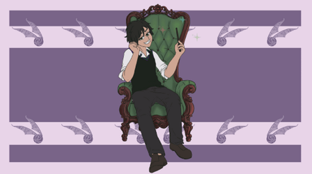 [Animation] King in his chair by CCDragon-93