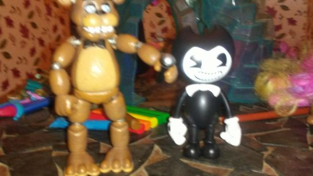 Freddy and Bendy by Lexi-Warner