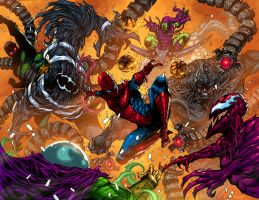 COMMISSION: SPIDER-MAN VS SINISTER SIX by K-Bol