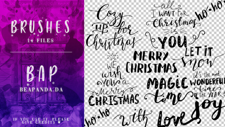 Brushes 033 // Christmas by BEAPANDA