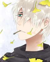 ginko with some ginkgoes by moon-starrrr