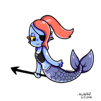 Mermaid Undyne by Koniimelia