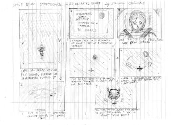 The Beast in Space Storyboards Part I by DTrinidad
