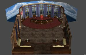 'God Eater 2: Rage Burst' Headmaster's Office XPS! by lezisell
