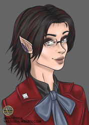 [Commission] FFXIV - Elezen Red Mage by valivixia