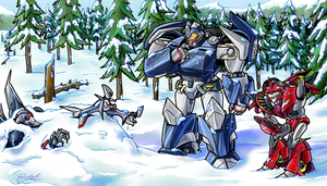 The Snow Ball Fight by Laserbot