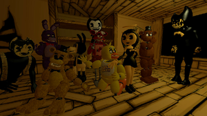 FNAF Meets BATIM by Chica-the-Puppy