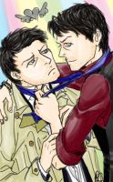Cas and Misha by moloko-plus