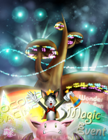 Welcome to the fabulous Gold Saucer! by Azurelly